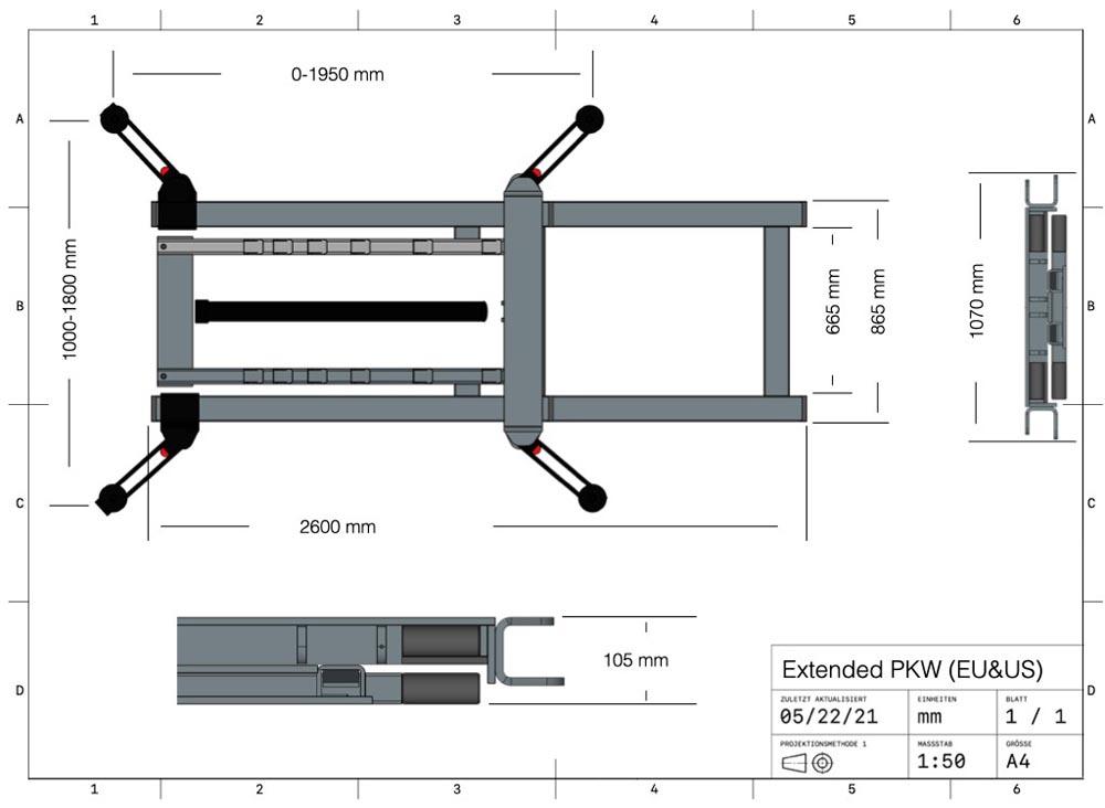 Hebebühne WDW-Lift Extended PKW EU/US